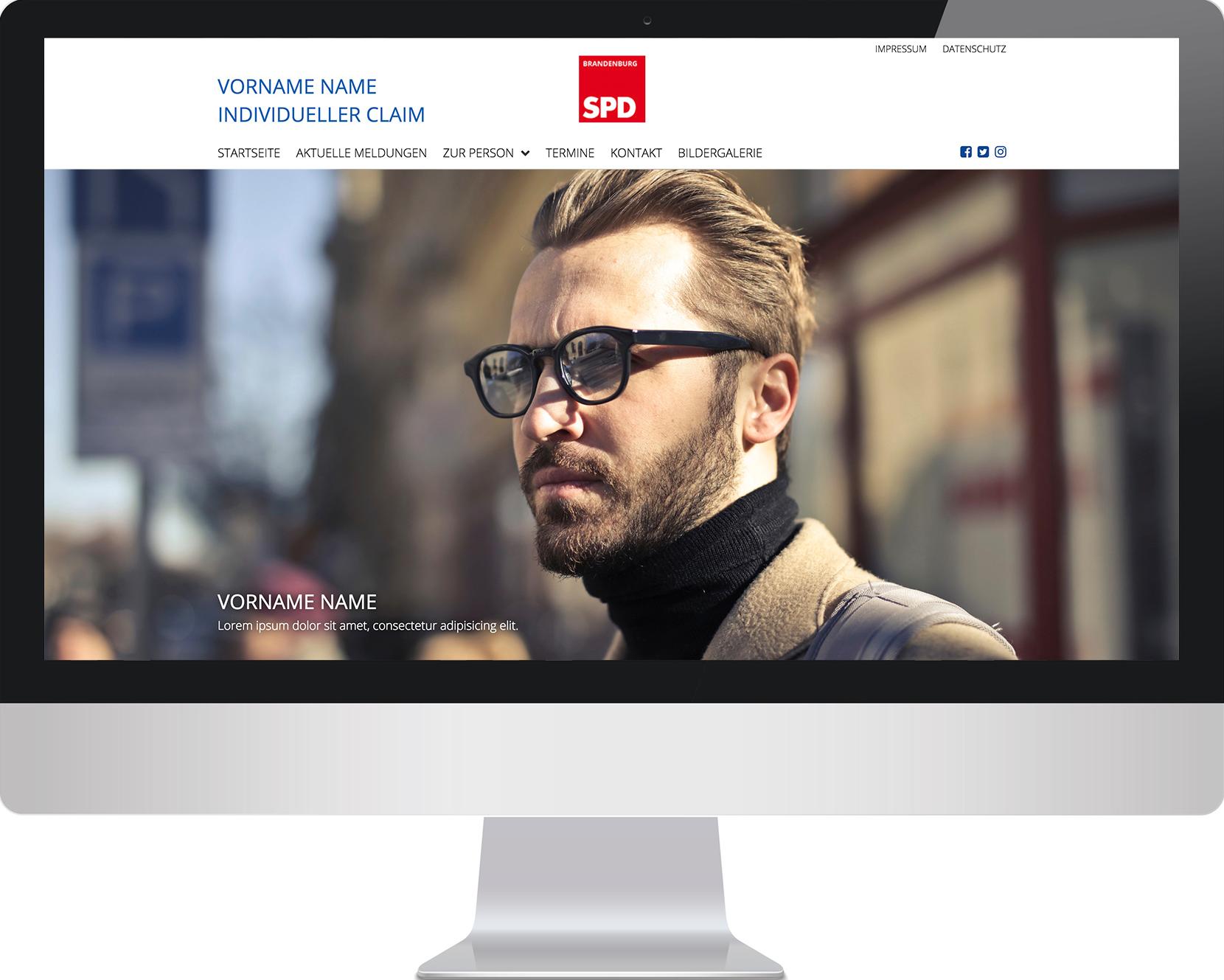 Monitor mit Beispielseite